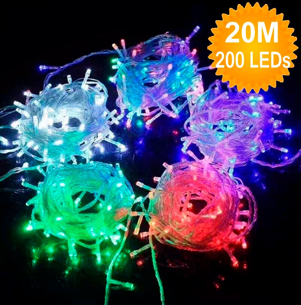 Outdoor Christmas Garland With Lights  Hot Sale 200 20M LED String Fairy Light Outdoor Home
