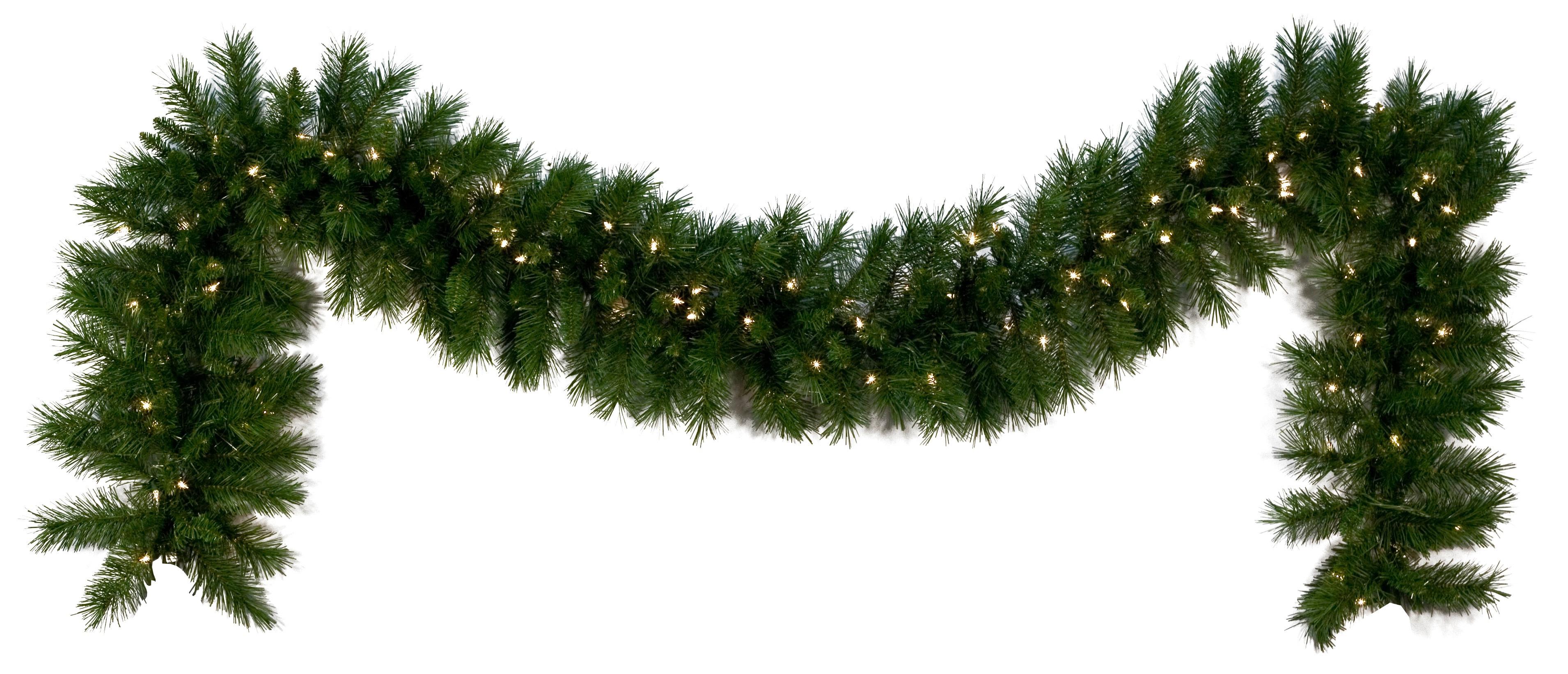 Outdoor Christmas Garland With Lights  Lighted Christmas Garland Dunhill Fir Prelit LED