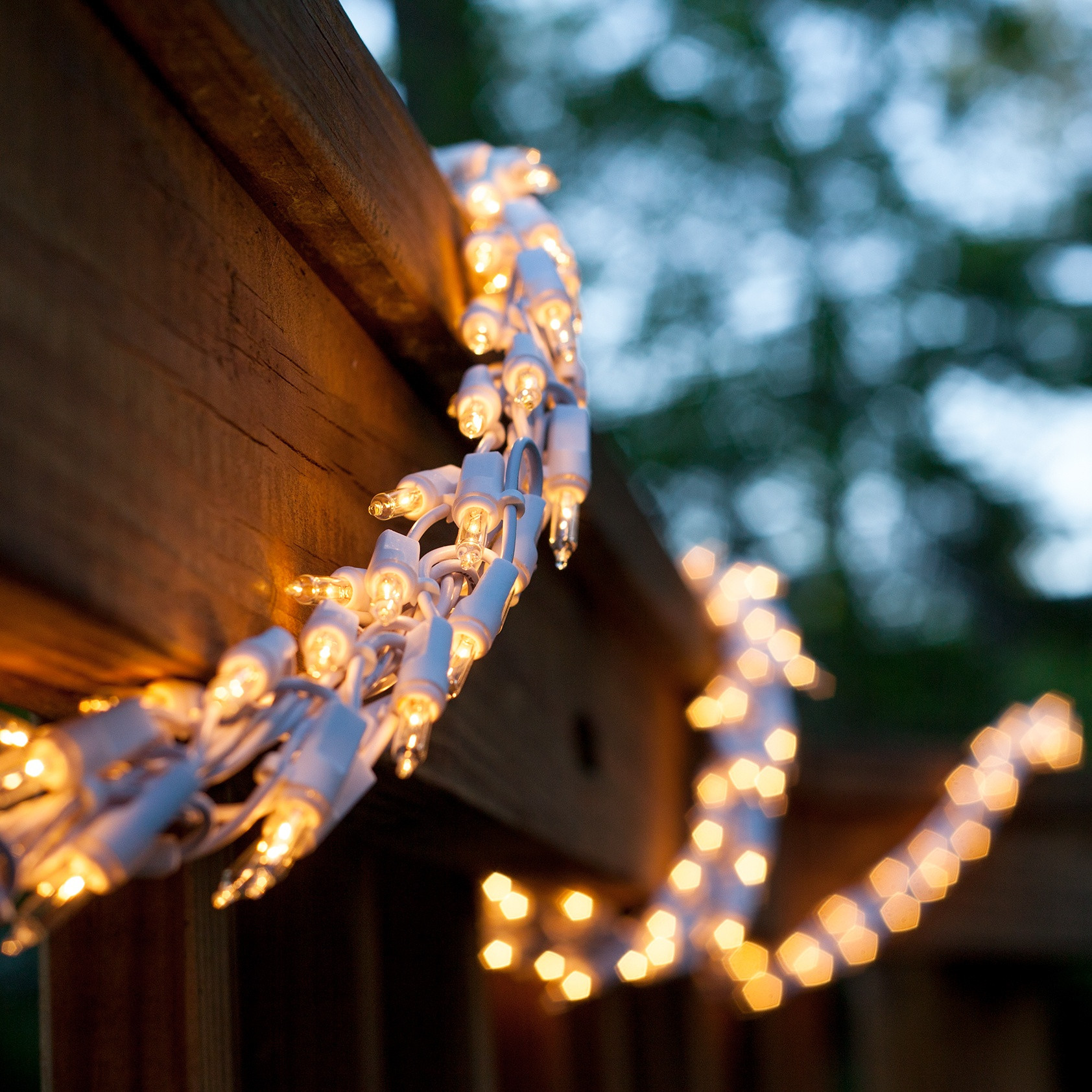 Outdoor Christmas Garland With Lights  Garland Lights 18 Garland Lights 600 Clear Lamps