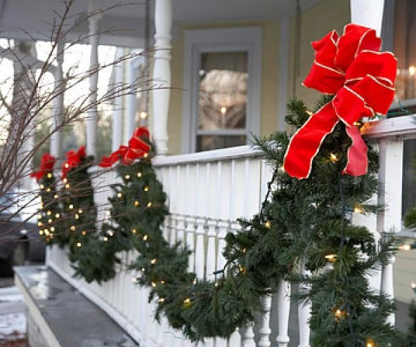 Outdoor Christmas Garland With Lights  Garland christmas lights outdoor 15 fancy decorative