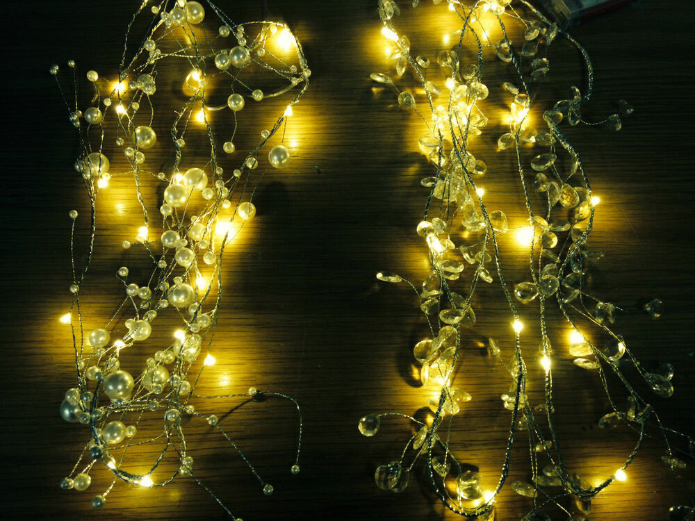 Outdoor Christmas Garland With Lights  2m WARM Wired LED Garland Christmas party string outdoor