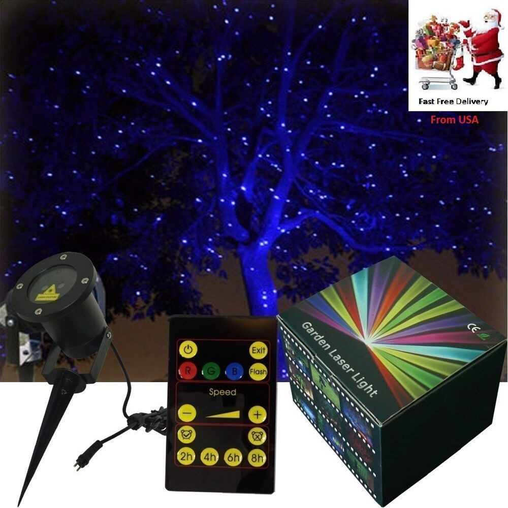 Outdoor Christmas Laser Lights  Blue Holiday Laser Christmas Light Projector Outdoor