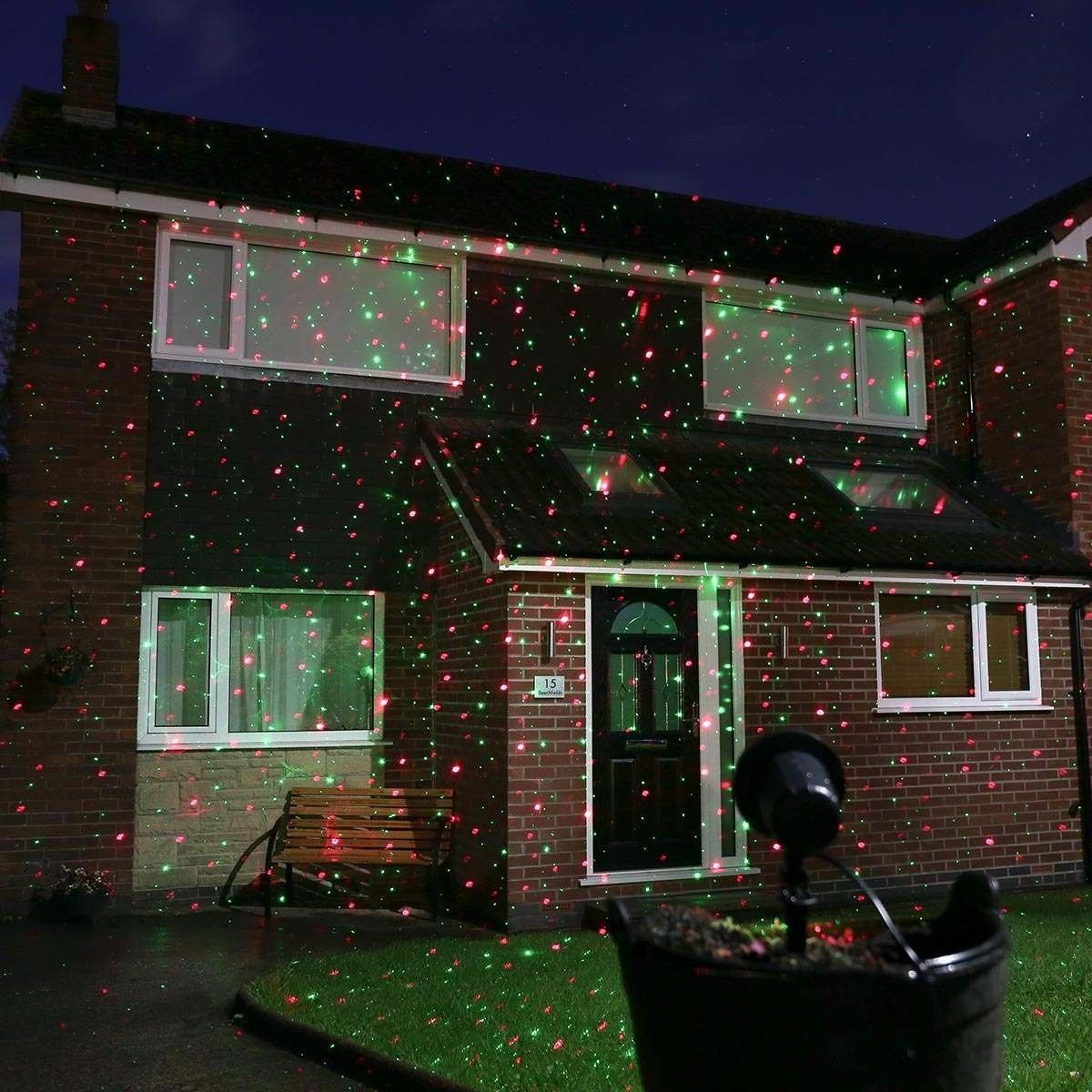 Outdoor Christmas Laser Lights  Outdoor Christmas Laser Light Projector with Remote Red