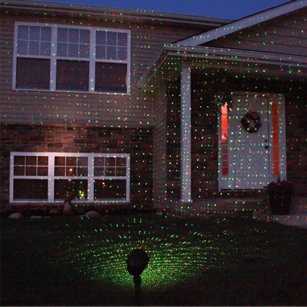 Outdoor Christmas Laser Lights  Outdoor Green Red Laser LED Landscape Projector Light