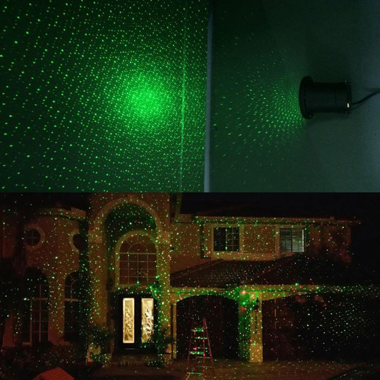 Outdoor Christmas Laser Lights  Christmas House Decoration Outdoor Lawn Laser Stage Light
