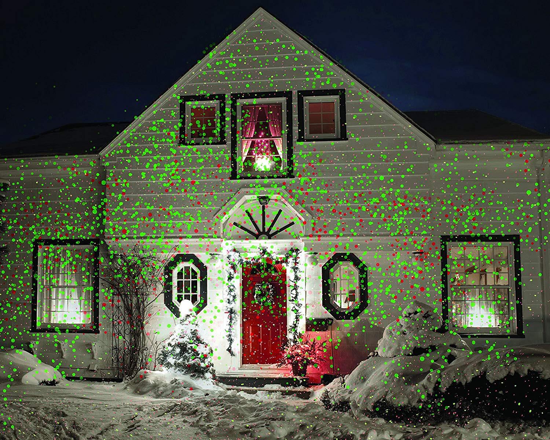 Outdoor Christmas Laser Lights  Christmas Laser Light Projector Red Green Landscape