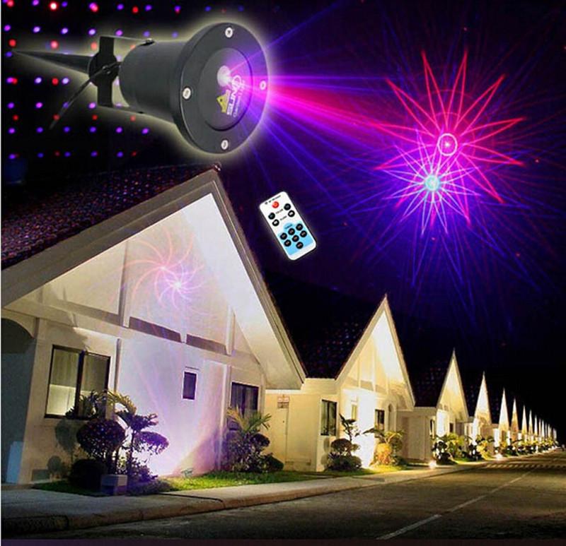 Outdoor Christmas Laser Lights  IP68 Waterproof Elf Christmas Lights 8in1 Red Blue Moving