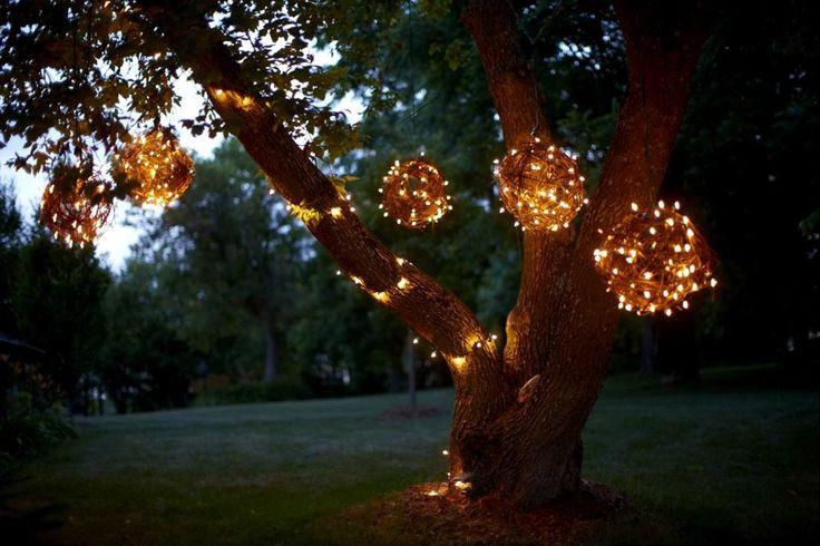 Outdoor Christmas Light Balls  DIY Christmas Light Decoration Ideas Outdoor Christmas