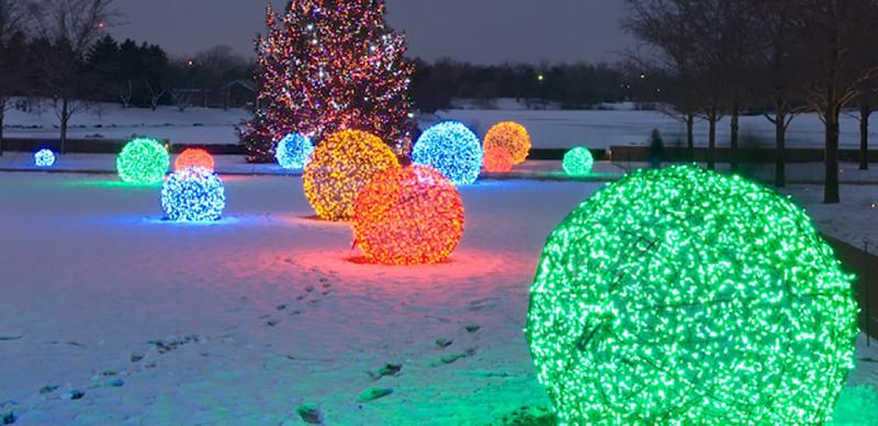 Outdoor Christmas Light Balls  How to Make Lighted Christmas Balls