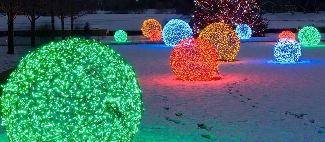 Outdoor Christmas Light Balls  Outdoor Christmas Yard Decoration Ideas