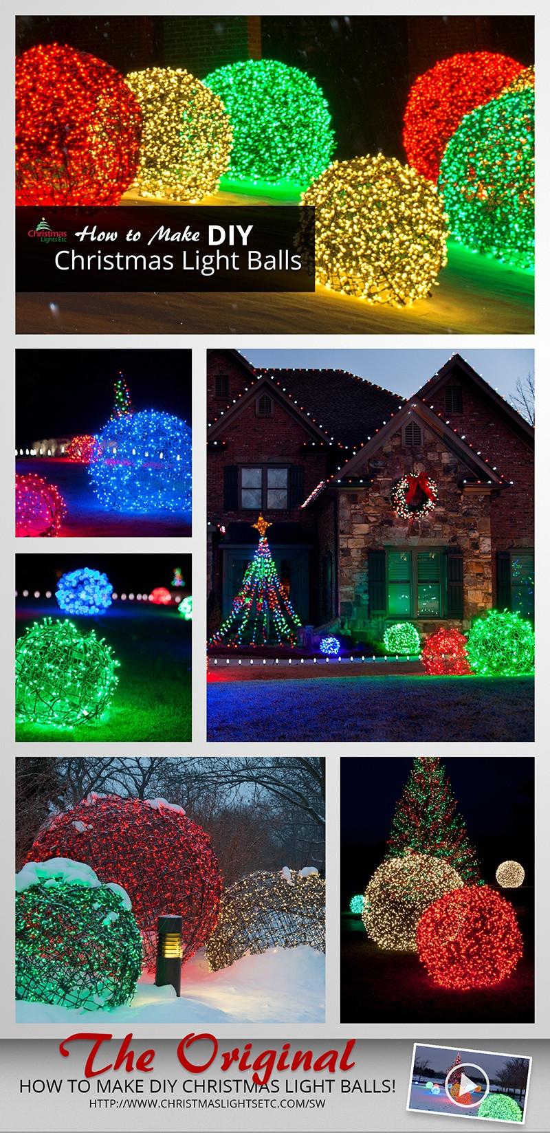 Outdoor Christmas Light Balls  How to Make Christmas Light Balls