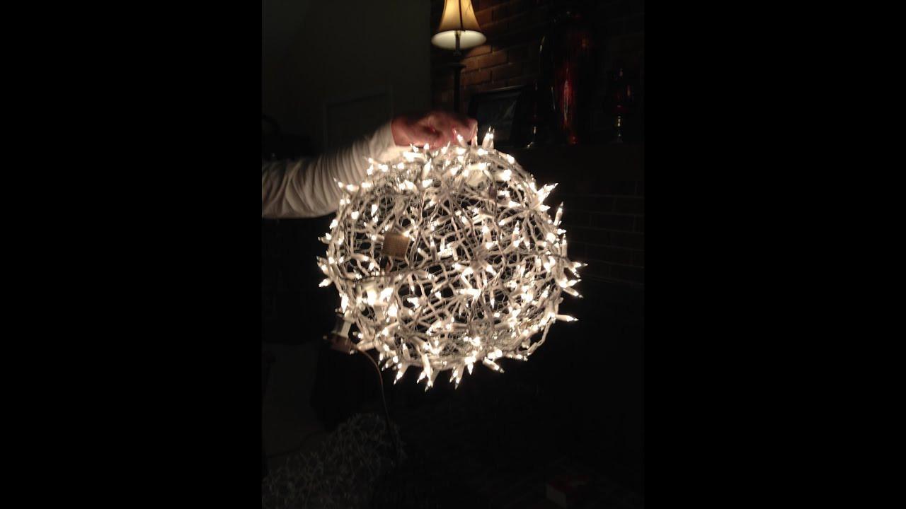 Outdoor Christmas Light Balls  Giant Lighted Christmas Balls How to Hang them on a Tree