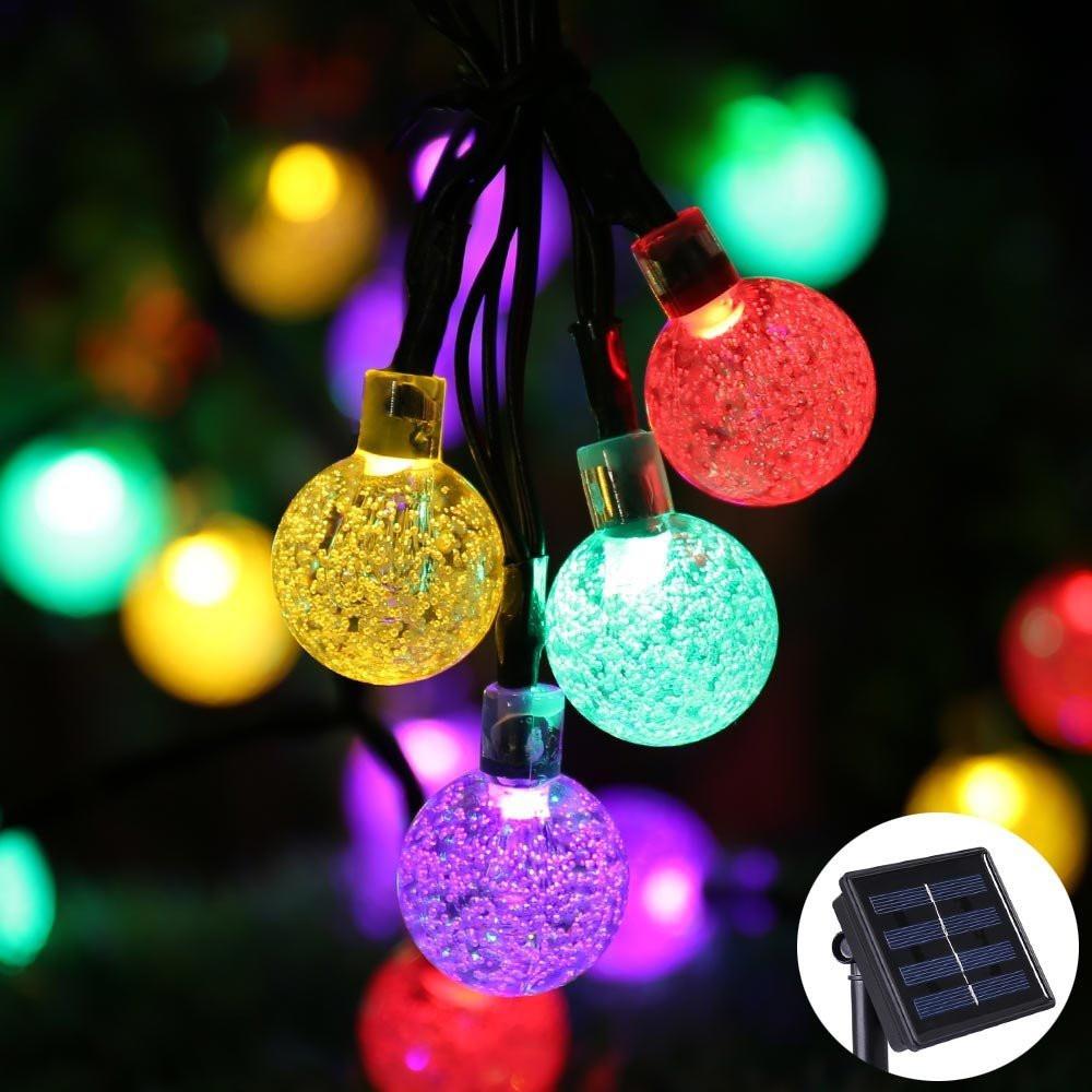 Outdoor Christmas Light Balls  Qedertek Solar Powered 30 Ball LED Fairy String Lights