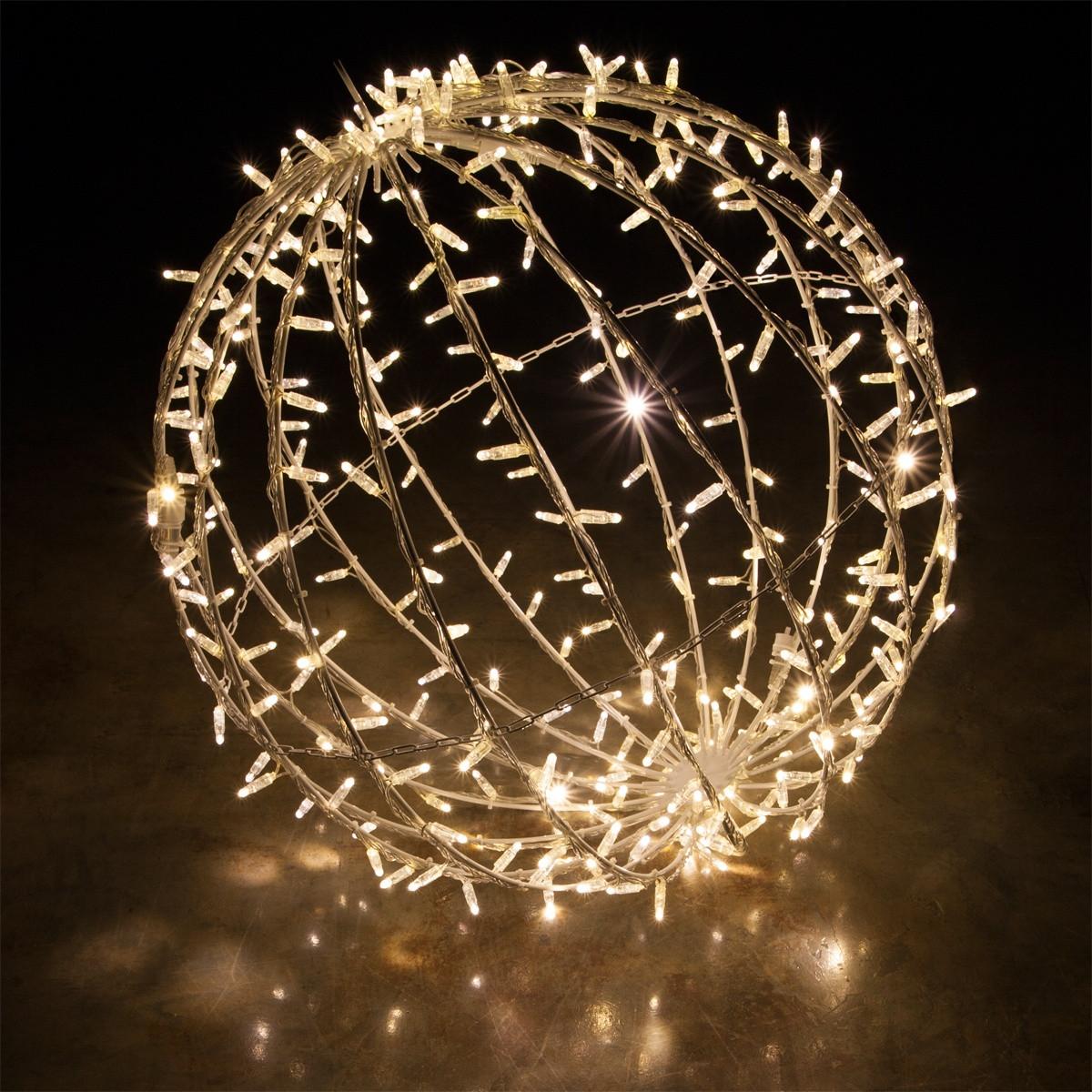 Outdoor Christmas Light Balls  Warm White LED mercial Mega Sphere Christmas Light