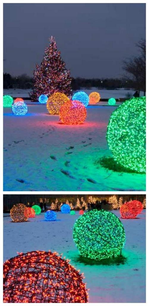 Outdoor Christmas Light Balls  Craftionary