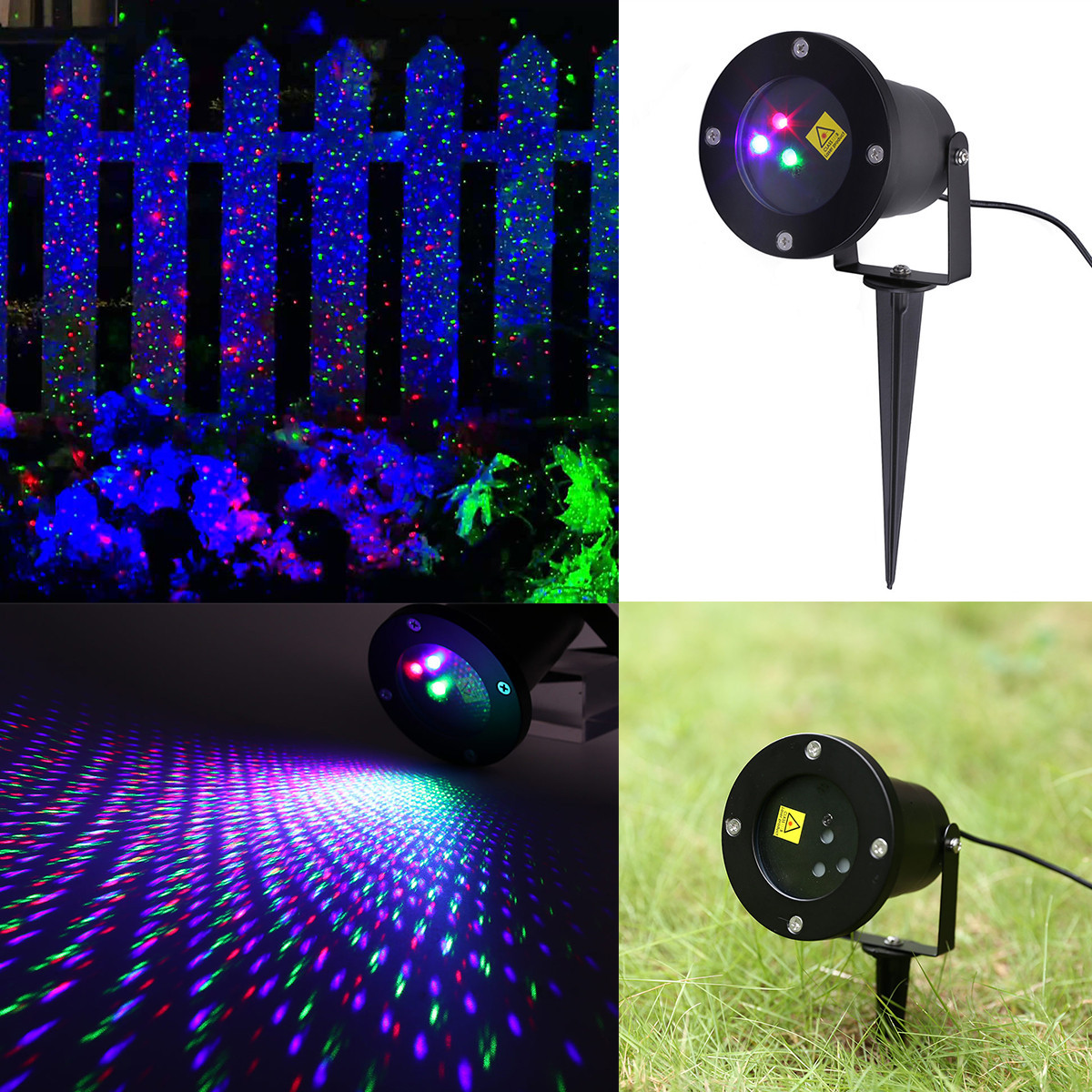 Outdoor Christmas Light Projector  RGB Outdoor Auto Dynamic Laser Projector Light Garden