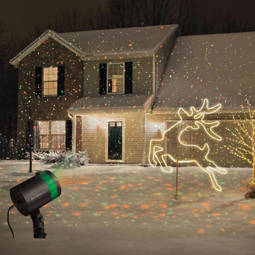 Outdoor Christmas Light Projector  Star Shower Laser Light Projector Outdoor Christmas Show