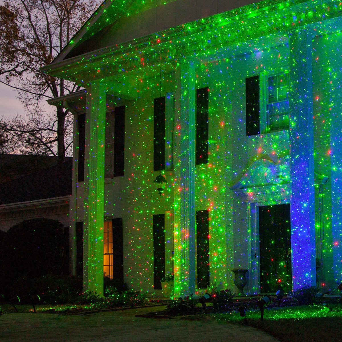 Outdoor Christmas Light Projector  Outdoor Christmas Decorating Ideas Yard Envy