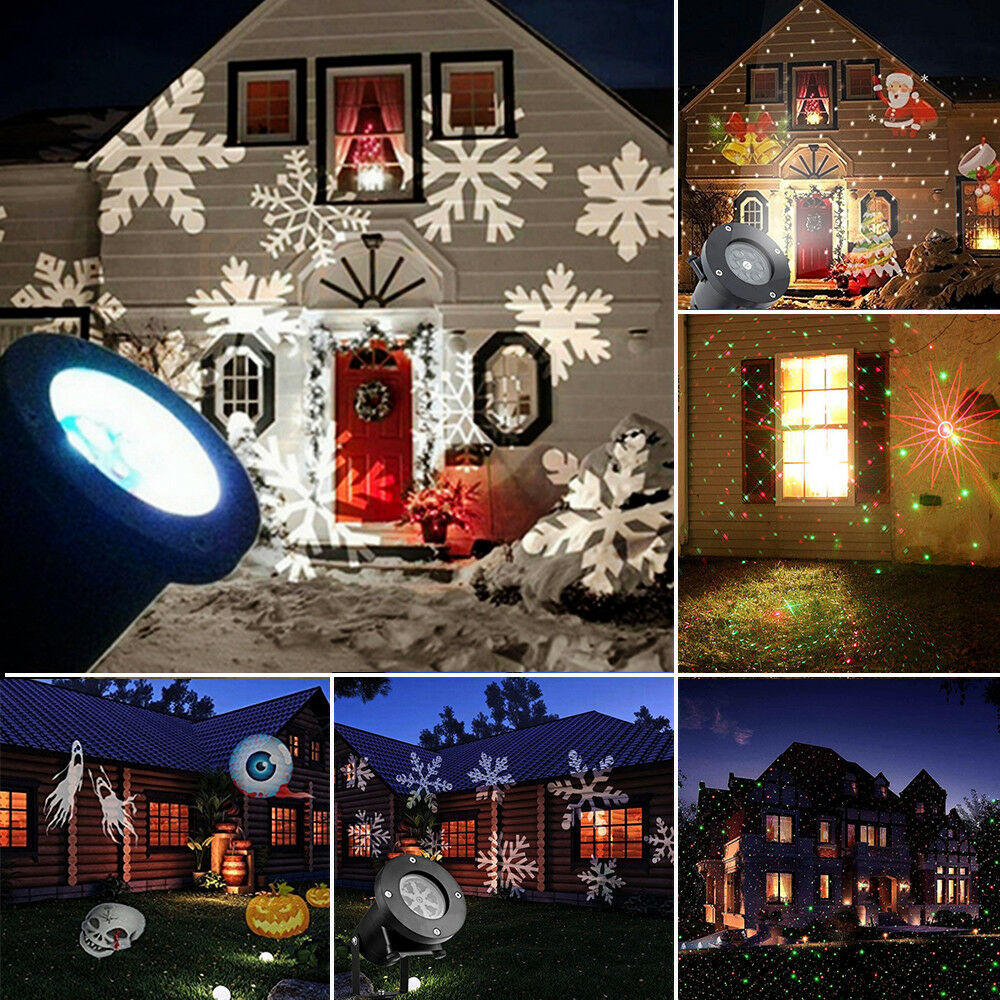 Outdoor Christmas Light Projector  Outdoor Garden Christmas Light Snowflake Led Laser