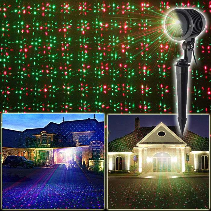 Outdoor Christmas Light Projector  RGB Outdoor Holiday Light Projector Moving Twinkle IP65
