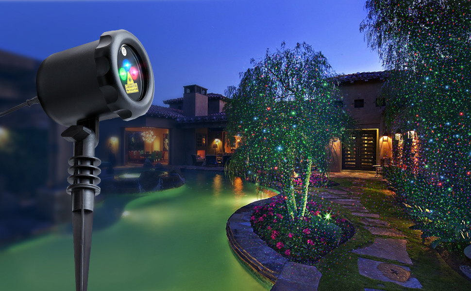 Outdoor Christmas Lights Amazon  Amazon MYCARBON Outdoor Laser Light Projector Static