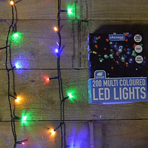 Outdoor Christmas Lights Amazon  200 Multi Colored Static LED Christmas Lights Outdoor or