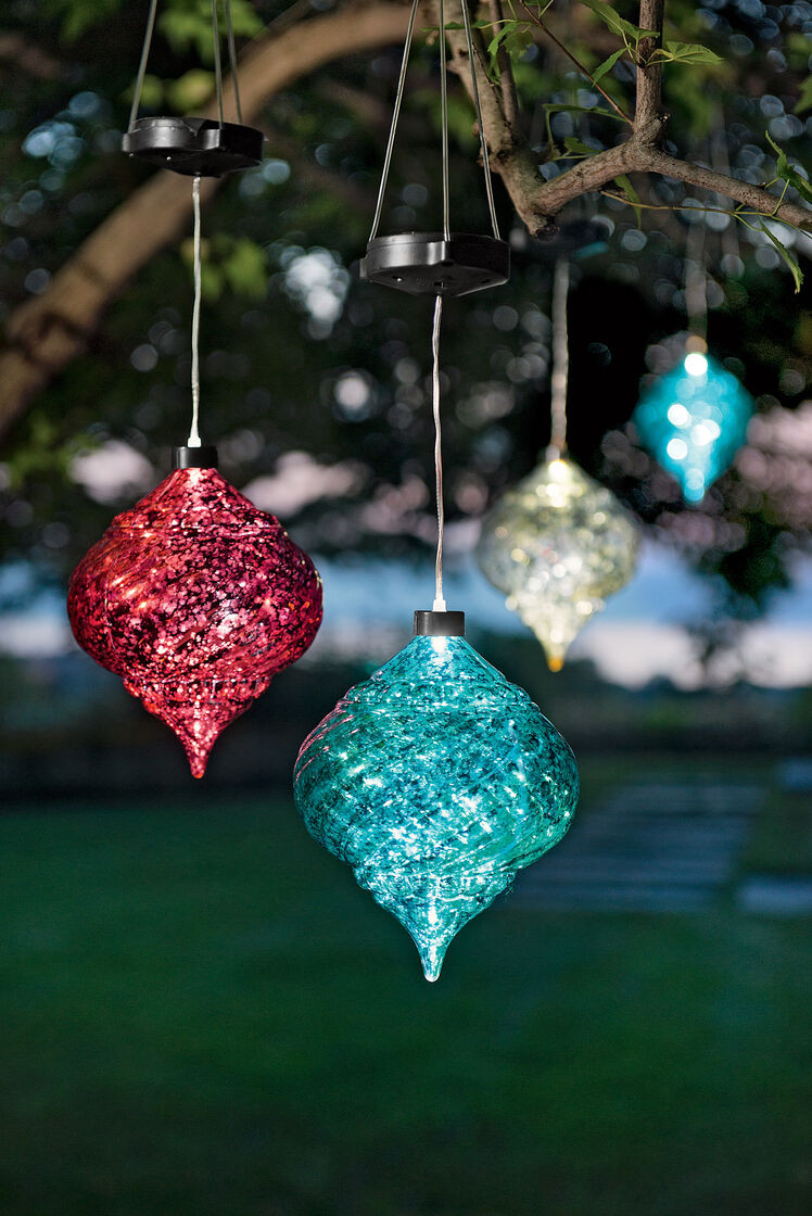 Outdoor Christmas Ornaments  Outdoor Christmas Ornaments Hanging ion Solar