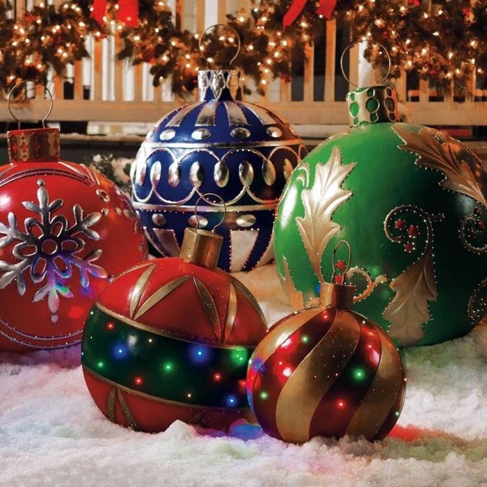 Outdoor Christmas Ornaments  Oversized Outdoor Christmas Ornaments