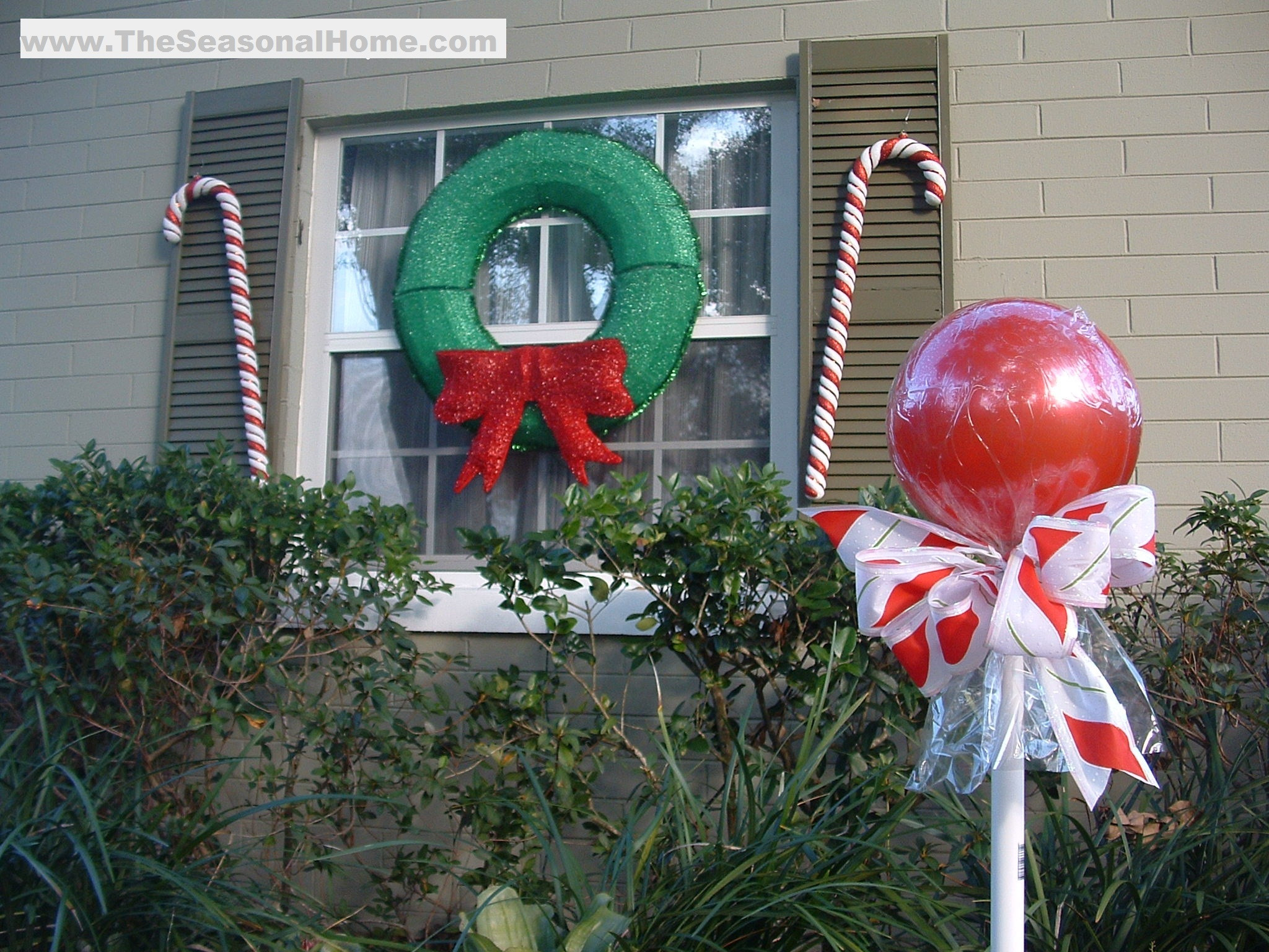 """Outdoor Christmas Ornaments  Outdoor """"CANDY"""" A Christmas Decorating Idea The"""