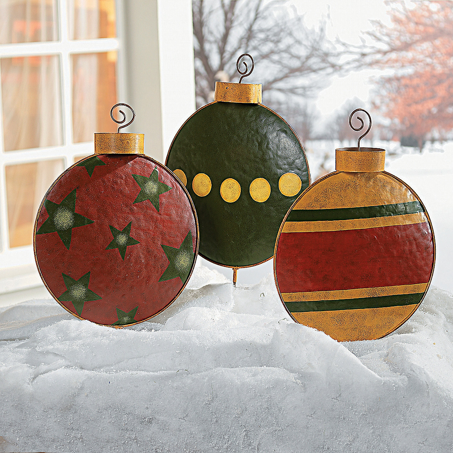 Outdoor Christmas Ornaments  Ornament Yard Stakes Oriental Trading
