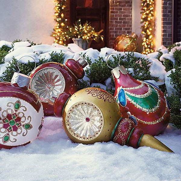 Outdoor Christmas Ornaments  30 Outdoor Christmas Decorations Ideas 2018