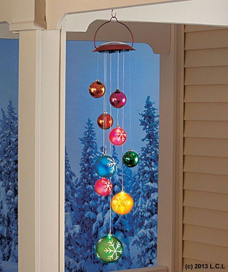 Outdoor Christmas Ornaments  Solar Ornament Mobile IN STOCK Christmas Holiday Outdoor