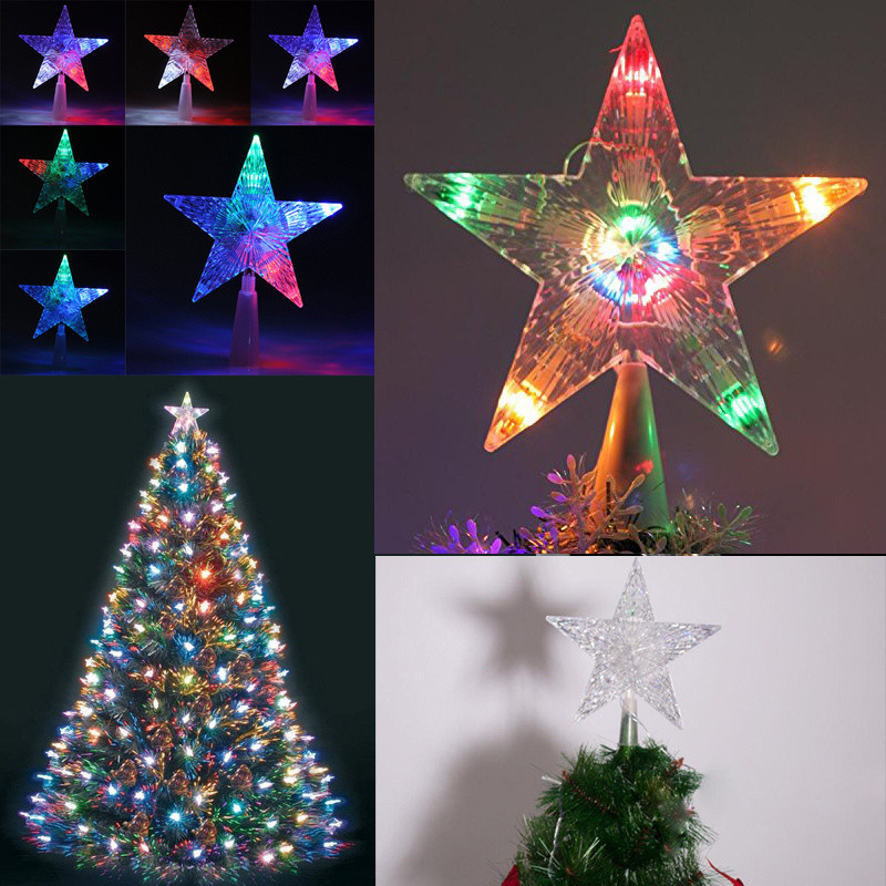Outdoor Christmas Tree Topper  Battery Operated Indoor Outdoor Xmas Christmas Tree Topper