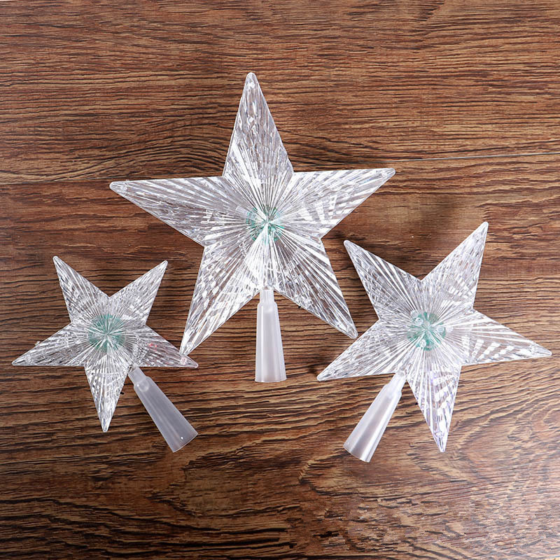 Outdoor Christmas Tree Topper  Led Crystal Star Christmas Tree Toppers DIY Christmas tree