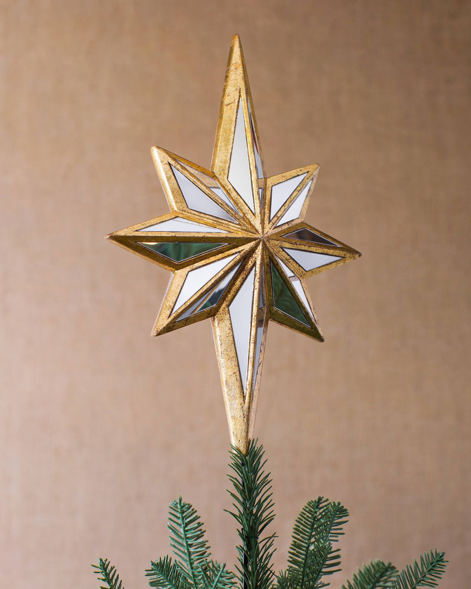 Outdoor Christmas Tree Topper  Mirrored Star Tree Topper