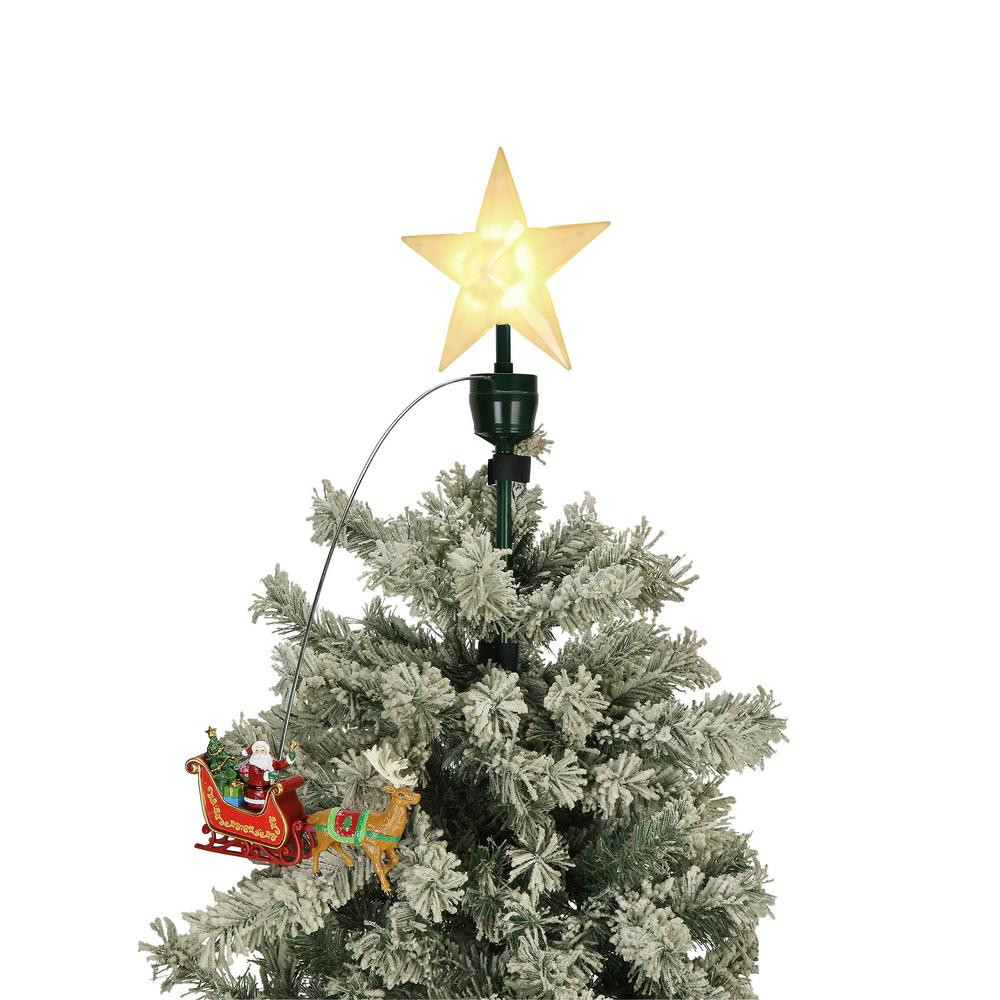 Outdoor Christmas Tree Topper  Mr Christmas 20 in Tree Topper Santa and Sleigh