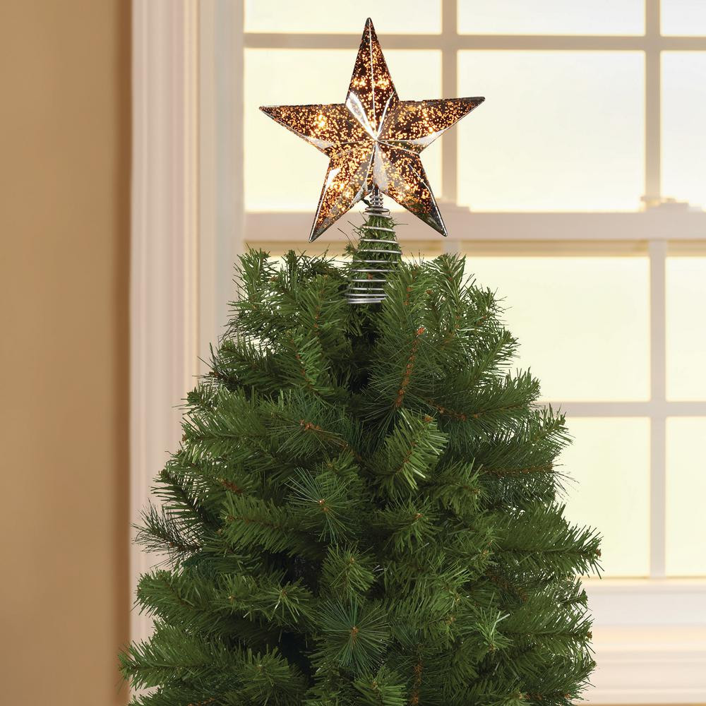 Outdoor Christmas Tree Topper  Christmas Decor Indoor Outdoor Durable Plastic Silver Star