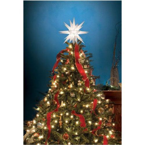 "Outdoor Christmas Tree Topper  12"" Moravian Star Tree Topper New"