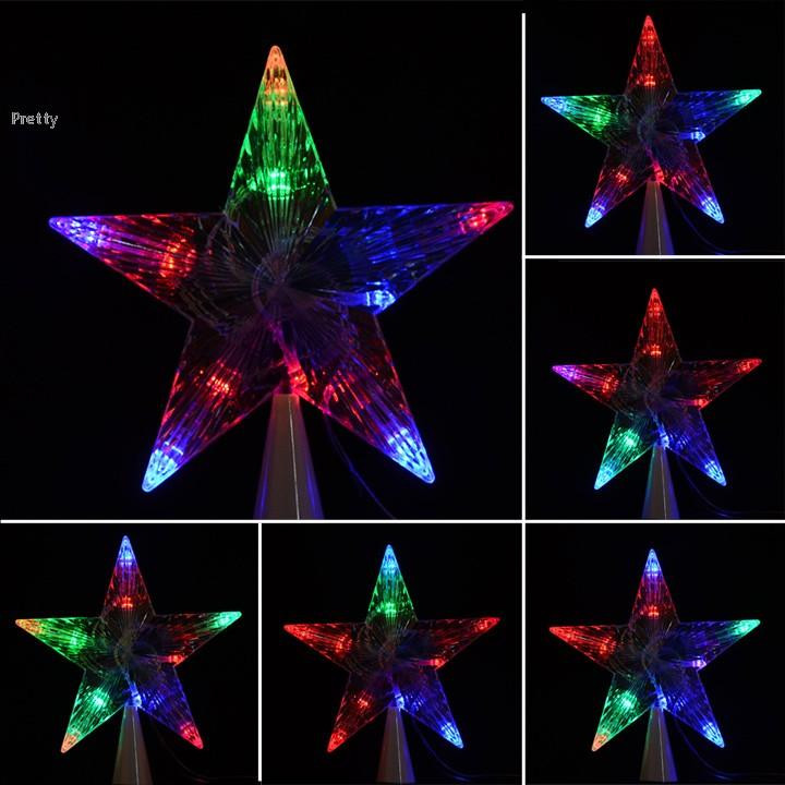 Outdoor Christmas Tree Topper  LED Indoor Outdoor Christmas Tree Topper Star Lights Lamp