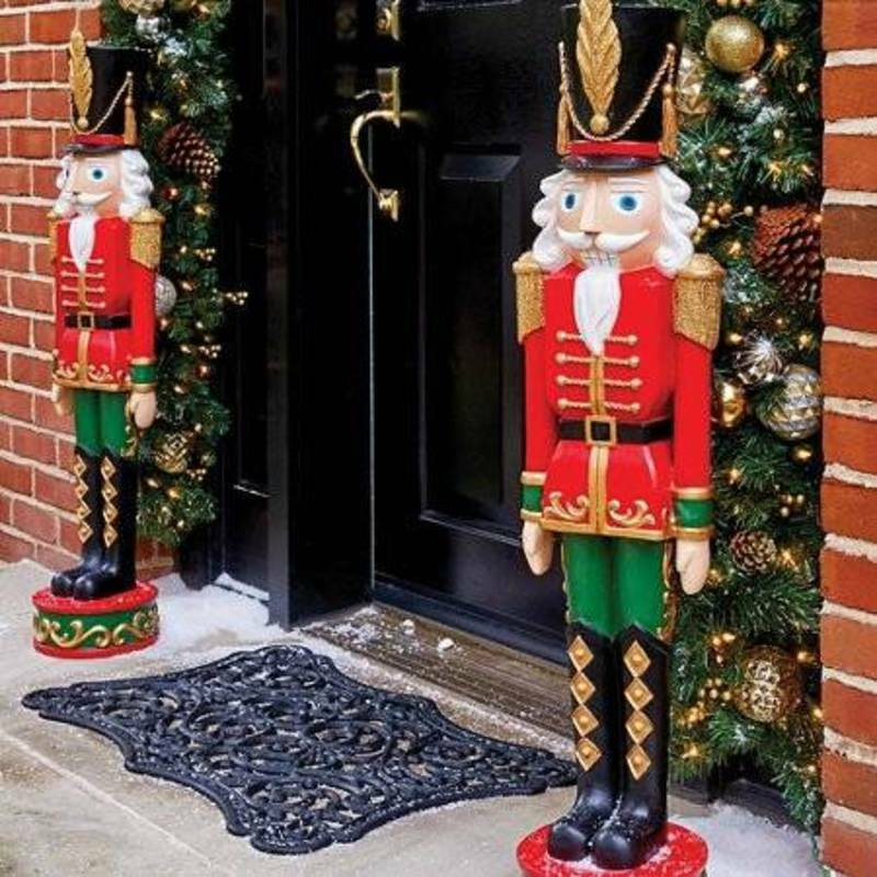 Outdoor toy soldier Christmas Decorations Best Of Christmas Entryway Nutcracker toy sol R Outdoor Indoor