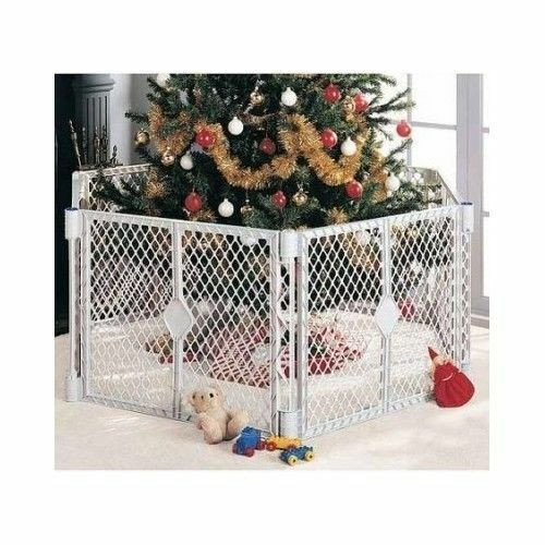Pet Gate For Christmas Tree  Wide Gate Baby Safety Playard Pet Barrier Portable