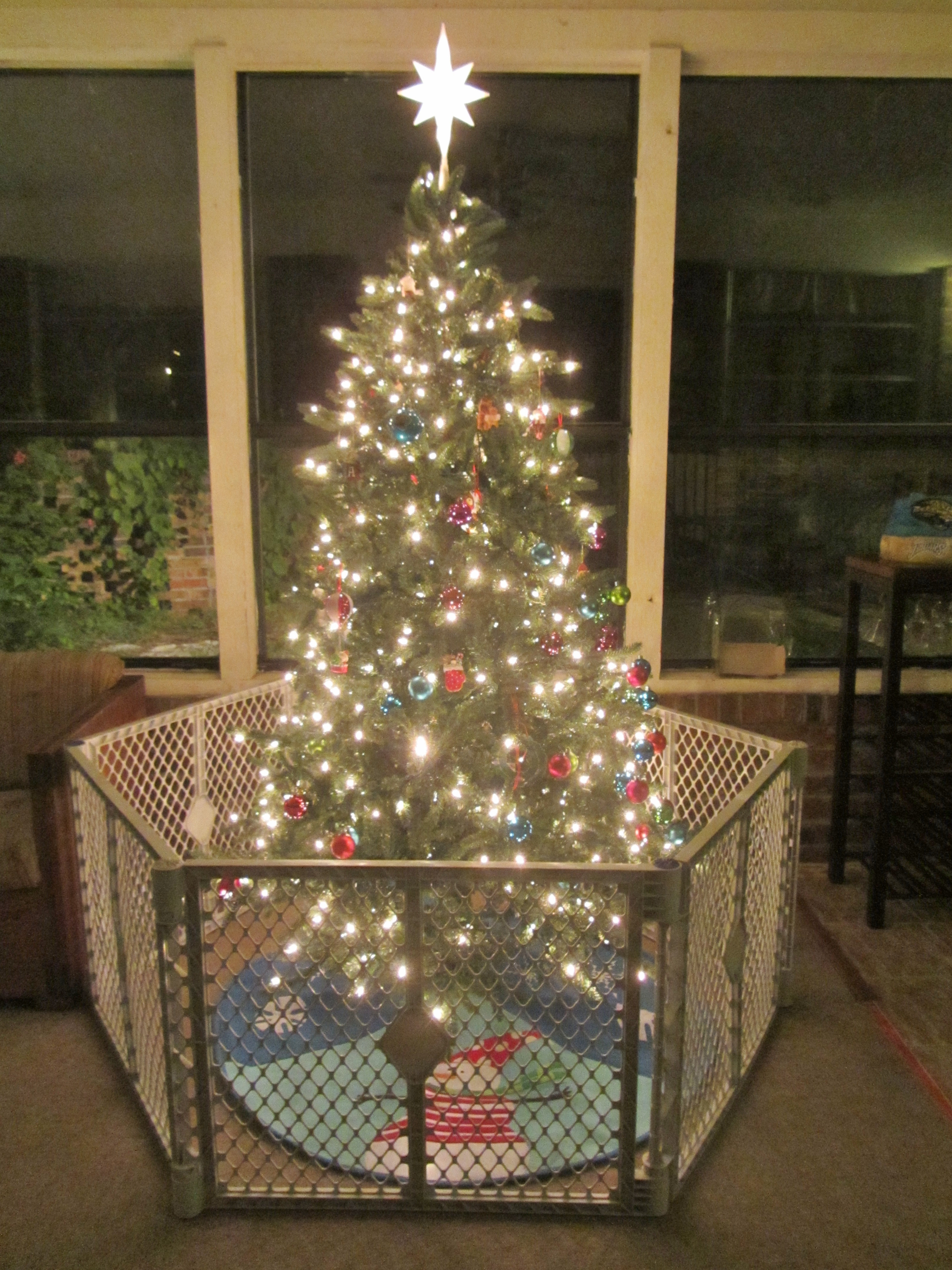 Pet Gate For Christmas Tree  Keeping a Clean and Organized Home at the Holidays