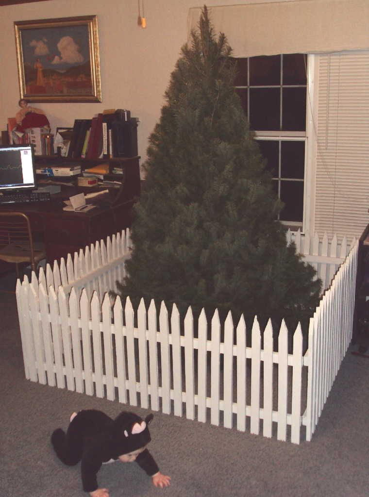 Pet Gate For Christmas Tree  Christmas Tree Gate Tutorial Part 2