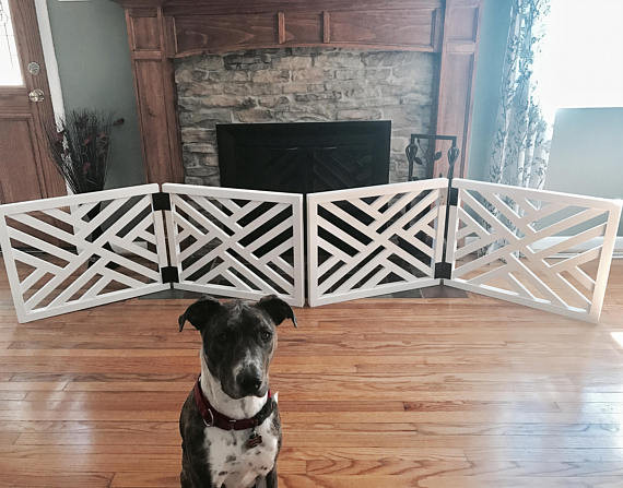 Pet Gate For Christmas Tree  Geometric Pet Gate Christmas Tree Barrier Made To Fit