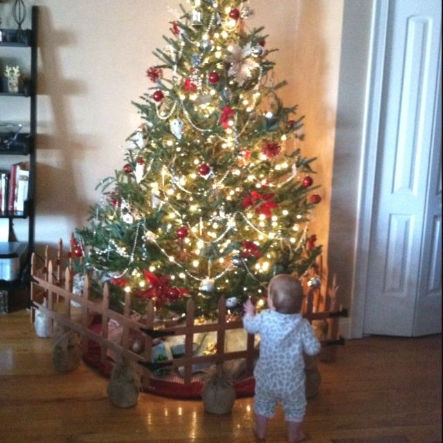 Pet Gate For Christmas Tree  keep christmas tree away from baby