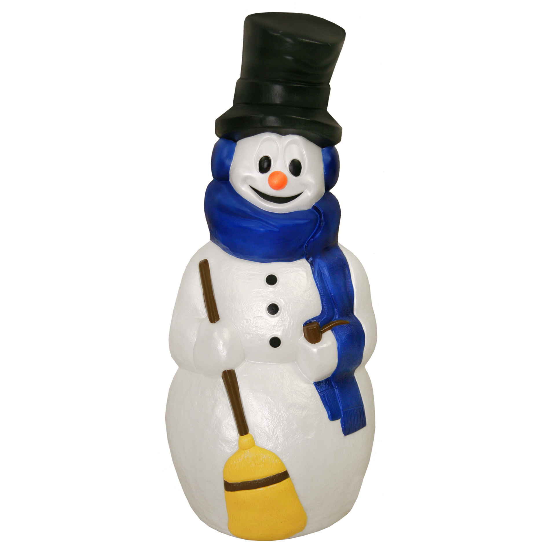 "Plastic Outdoor Christmas Decorations Clearance  General Foam Plastics Snowman w Broom 41"" Seasonal"