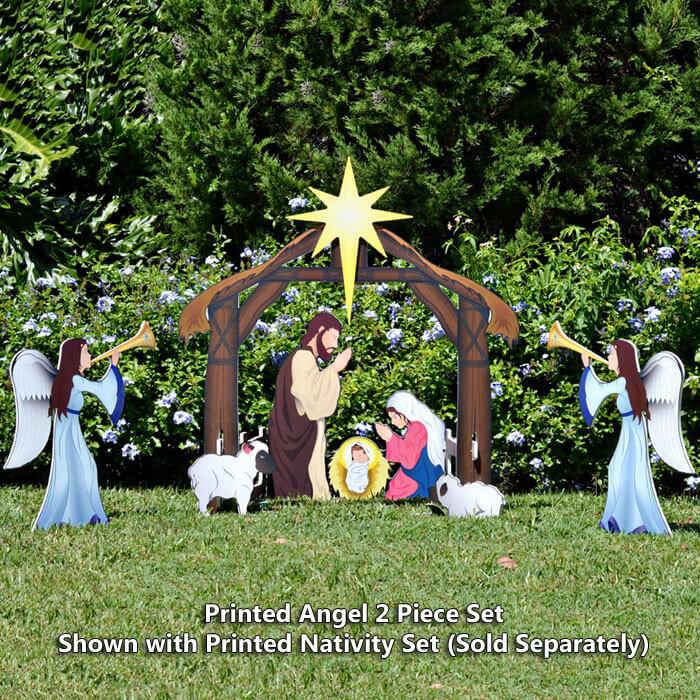 Plastic Outdoor Christmas Decorations Clearance  Christmas Decorations Nativity Scene Outdoor Desktop PC