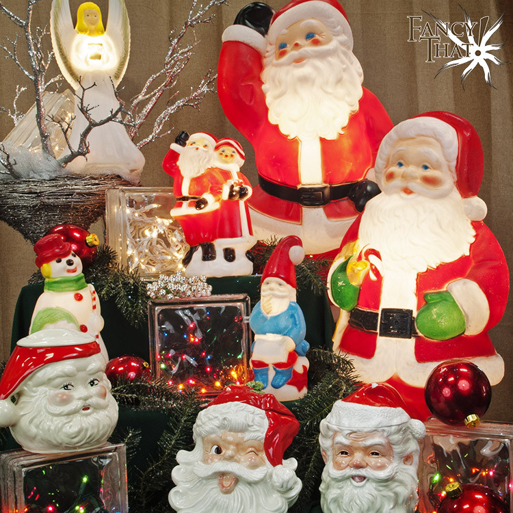 Plastic Outdoor Christmas Decorations Clearance  Vintage Christmas Blow Molds — Fancy That Store