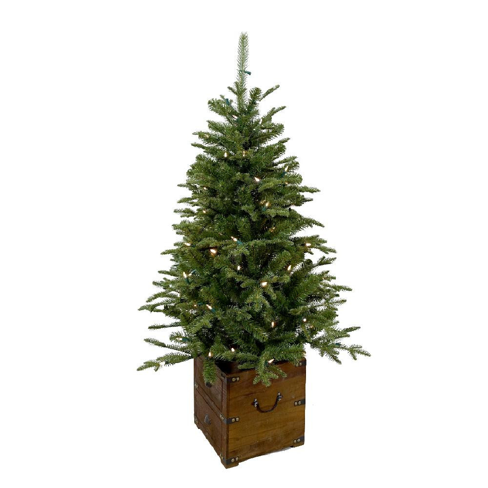 Pre Lit Porch Christmas Trees  Home Accents Holiday 4 ft Pre Lit Frasier Artificial