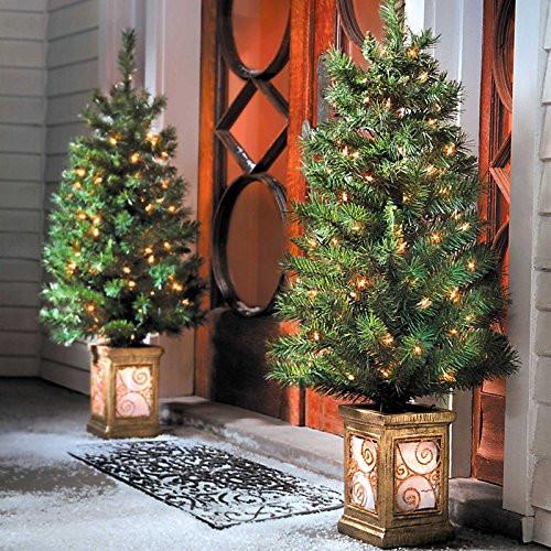 Pre Lit Porch Christmas Trees  Pre Lit Christmas Topiaries